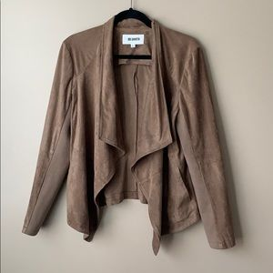 BB Dakota brown drapey suede sweater sz lg